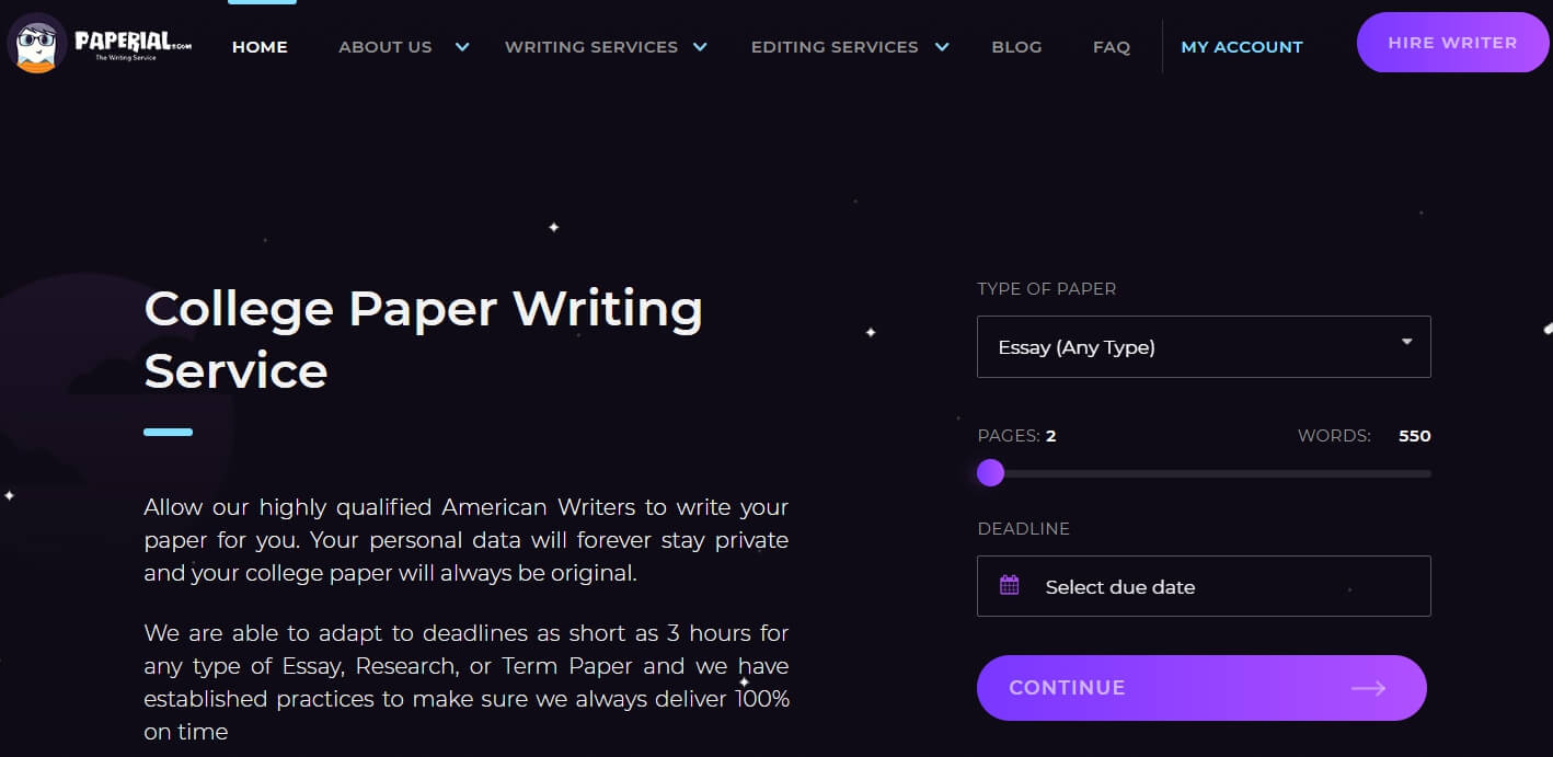 Paperial writing service